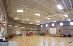 gym sound panels in metal deck ceiling for soundproofing a gym