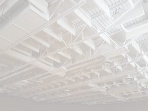 gymnasium soundproofing with ceiling sound baffles