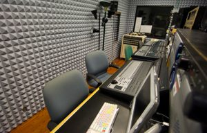 broadcast and recording studio soundproofing with Pyramid foam panels