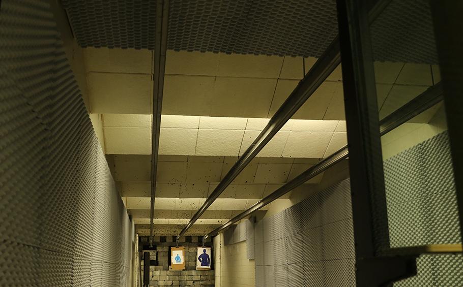 indoor gun range noise control with NetWell sound panels