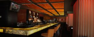 bar soundproofing with cusotm imaged picture panels that control noise levels