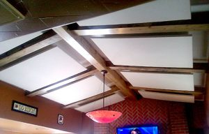 acoustic ceiling clouds for soundproofing a room