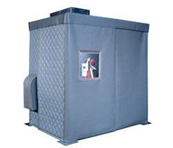 machine enclosure for industrial noise control