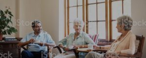 seniors with sound proofing issues in a senior center