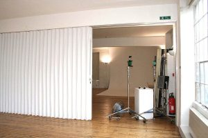 sound barrier accordion room divider curtain