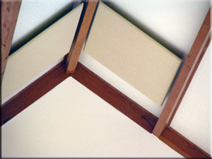 Ceiling Cloud Acoustic Panel Controlling Echoes