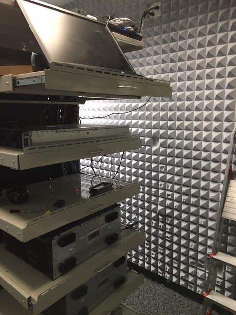 acoustic foam panels control computer rack noise