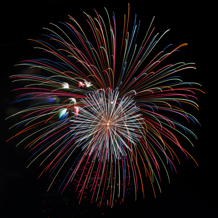 fireworks for sound control in July