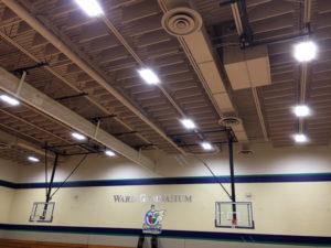 sound baffles in a gym that control echo