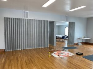 Room Divider Sound Barrier Curtain System